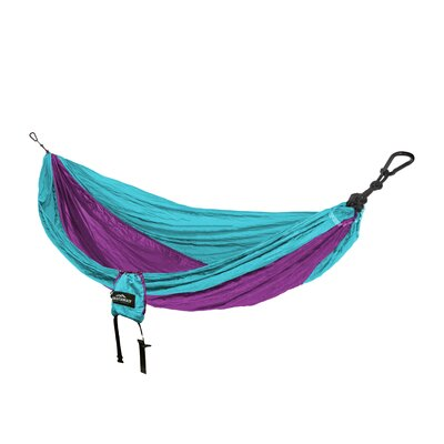 Travel Single Nylon Camping Hammock Color: Turquoise/Purple