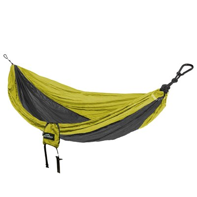 Travel Single Nylon Camping Hammock Color: Green/Charcoal