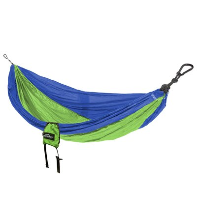 Travel Double Nylon Camping Hammock Color: Green/navy