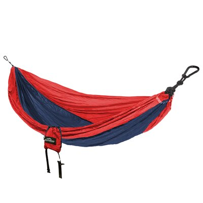 Travel Double Nylon Camping Hammock Color: Red/navy