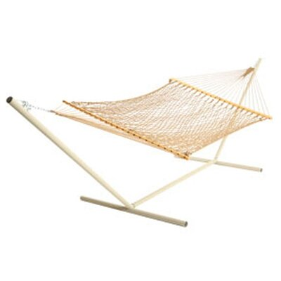Deluxe Rope Polyester Hammock Color: Taupe