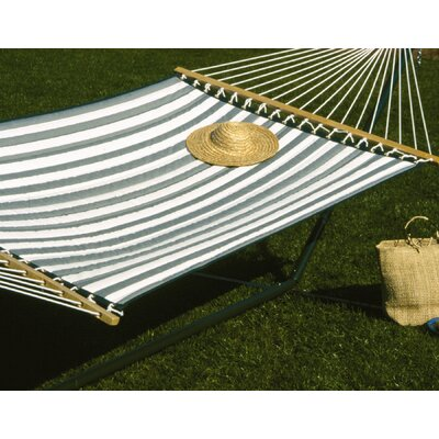 Large Quilted Polyester Hammock Color: Green/White