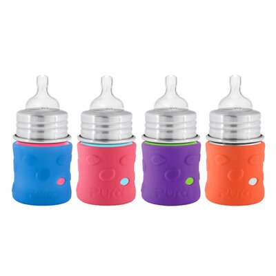 Pura Kiki Silicone Bottle/Sippy Sleeve - Color: Pink, Size: 11oz. at Sears.com