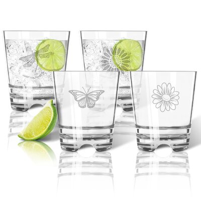 4 Piece Tritan 12 oz. Old Fashioned Glass Set ACL-TDOF12S4-pd-garden