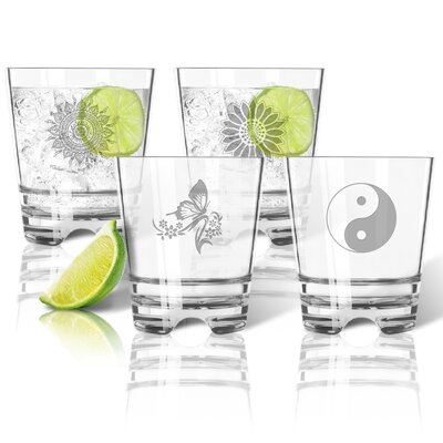 4 Piece Tritan 12 oz. Old Fashioned Glass Set ACL-TDOF12S4-pd-solstice