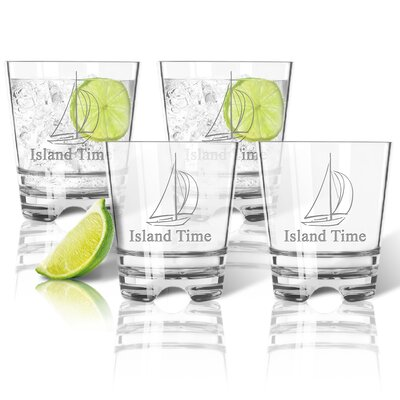 Personalized Tritan Sailboat 12 oz. Old Fashioned Glass ACL-TDOF12S4-pd-sailboat-tnr