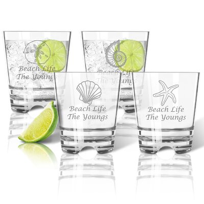 Personalized Tritan 12 oz. 4 Piece Old Fashioned Glass Set ACL-TDOF12S4-pd-shells-luc