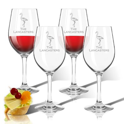 Personalized Tritan Flamingo 12 Oz. All Purpose Wine Glass ACL-TWS12S4-pd-flamingo-copperplate