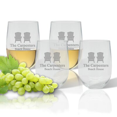 Personalized 14 Oz. Stemless Wine Glass ACL-UBWT14S4-pd-adirondackchairs