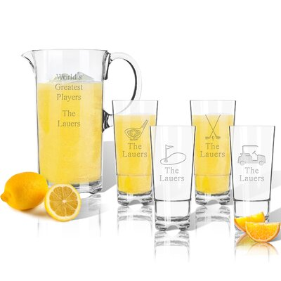 Tritan Golf 5 Piece Beverage Serving Set ACL-TPIT55hb16s4-PD-Golf-tnr