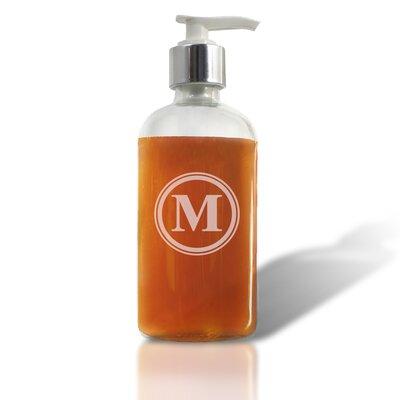 Ellum Circle Single Initial Glass Soap Dispenser Letter: M