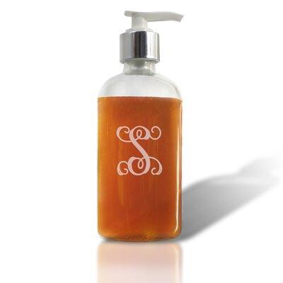 Welsch Glass Soap Dispenser Letter: S