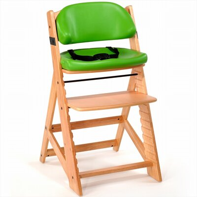 Keekaroo Height Right Kids High Chair - Finish: Natural, Cushion Color: Lime at Sears.com