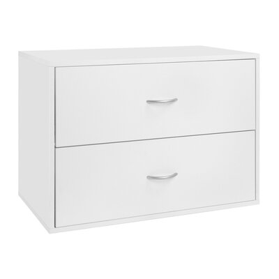 freedomRail Big O-Box 2 Drawer Storage Unit - Color: White at Sears.com
