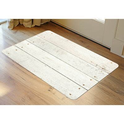 Anie Whitewash Doormat Mat Size: 25 x 60, Color: White