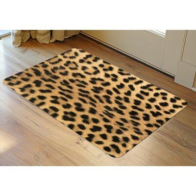 Fo Flor Leopard Doormat Rug Size: 46 x 66