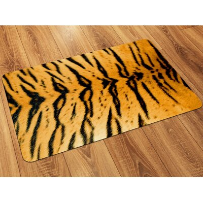 Fo Flor Tiger Doormat Rug Size: 25 x 60