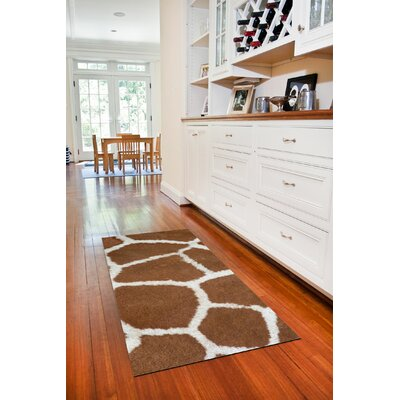 Fo Flor Giraffe Doormat Rug Size: 25 x 60, Color: Multi