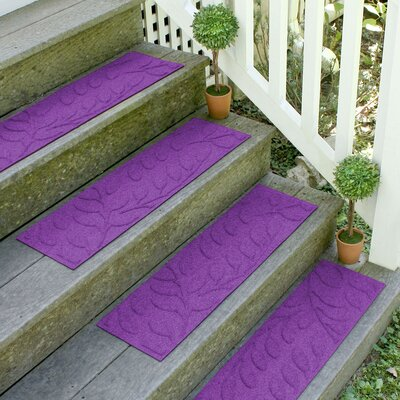 Aqua Shield Purple Brittany Leaf Stair Tread