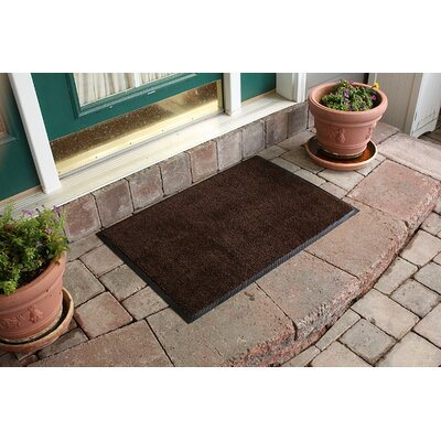 Aqua Shield Dirt Stopper Supreme Doormat Color: Brown/Black