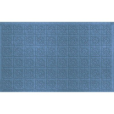 Aqua Shield Bluestone Star Quilt Mat Mat Size: Rectangle 3 x 5