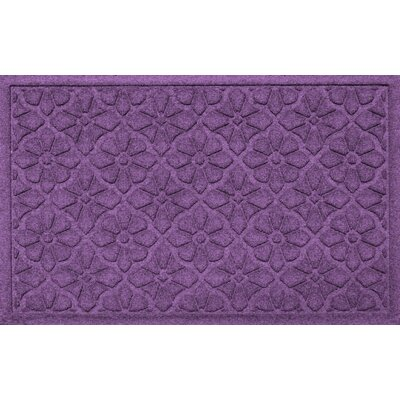 Aqua Shield Medallion Doormat Color: Purple