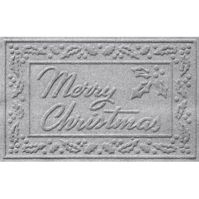 Aqua Shield Merry Christmas Doormat Color: Medium Gray