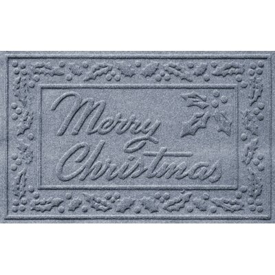 Aqua Shield Merry Christmas Doormat Color: Bluestone