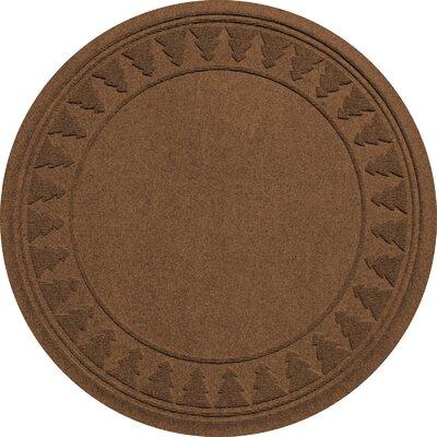 Aqua Shield Tree Skirt Doormat Color: Dark Brown