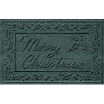 Conway Merry Christmas Doormat Color: Evergreen