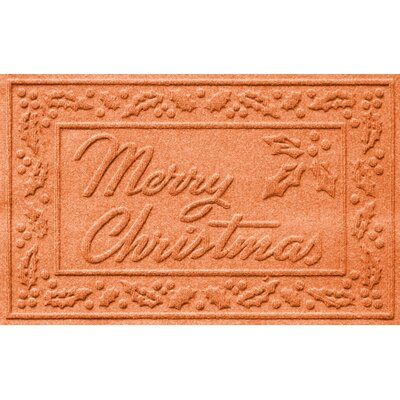Aqua Shield Merry Christmas Doormat Color: Orange