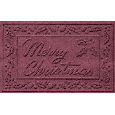 Aqua Shield Merry Christmas Doormat Color: Bordeaux