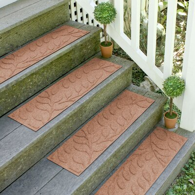 Aqua Shield Medium Brown Brittany Leaf Stair Tread