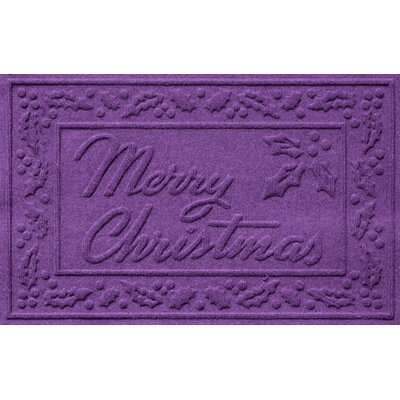 Conway Merry Christmas Doormat Color: Purple
