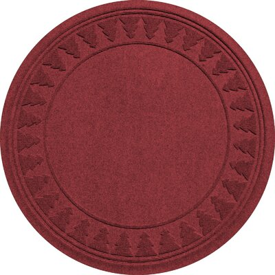 Aqua Shield Tree Skirt Doormat Color: Red