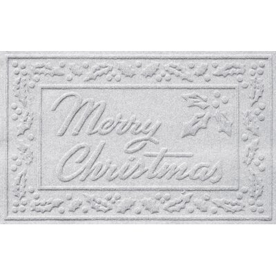 Conway Merry Christmas Doormat Color: White