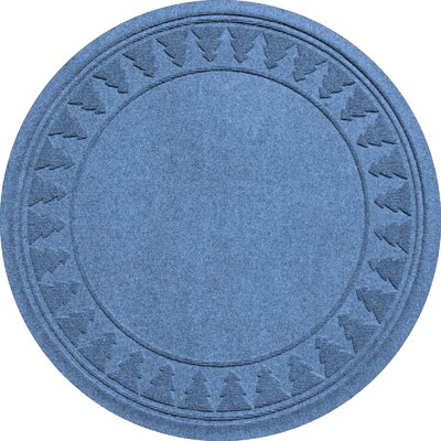 Aqua Shield Tree Skirt Doormat Color: Medium Blue