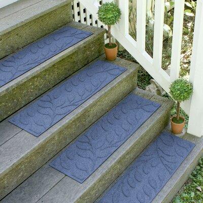 Aqua Shield Navy Brittany Leaf Stair Tread
