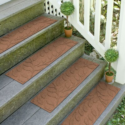 Conway Dark Brown Brittany Leaf Stair Tread