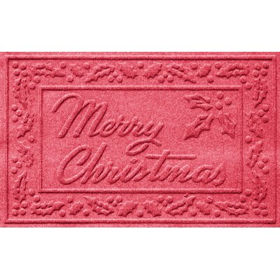 Aqua Shield Merry Christmas Doormat Color: Solid Red