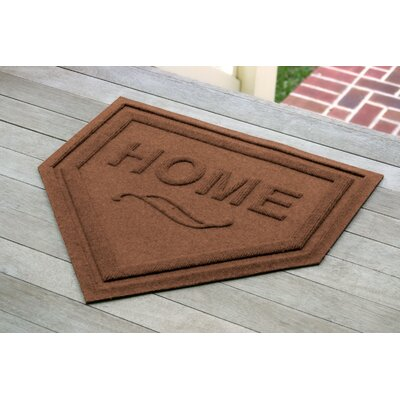 Aqua Shield Home Plate Doormat Color: Dark Brown