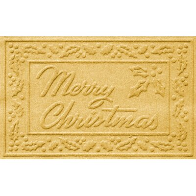 Aqua Shield Merry Christmas Doormat Color: Yellow