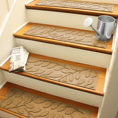 Aqua Shield Gold Brittany Leaf Stair Tread