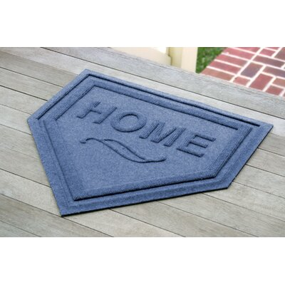 Aqua Shield Home Plate Doormat Color: Medium Blue