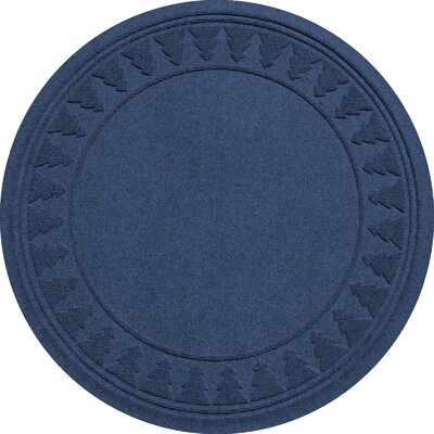 Aqua Shield Tree Skirt Doormat Color: Navy