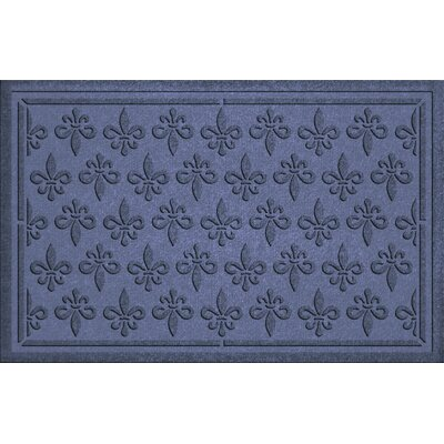 Conway Fleur Field Doormat Color: Navy