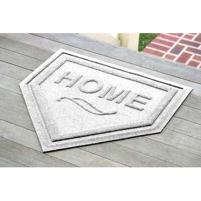 Engelmann Home Plate Doormat Color: White