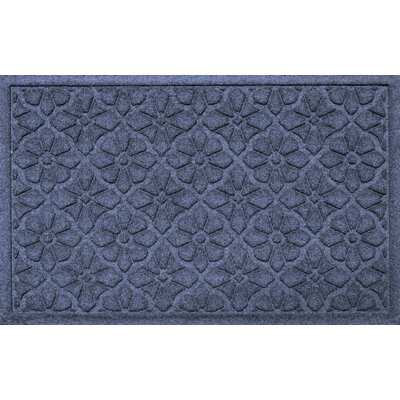 Aqua Shield Medallion Doormat Color: Navy