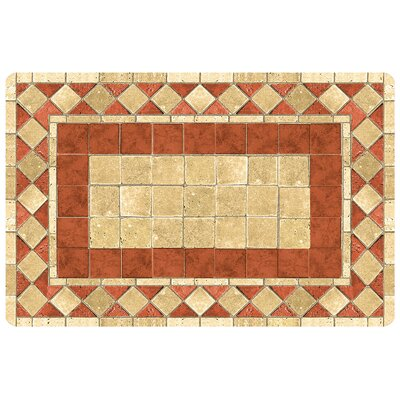 Fo Flor Mosaic Tile Doormat Mat Size: Rectangle 21 x 5