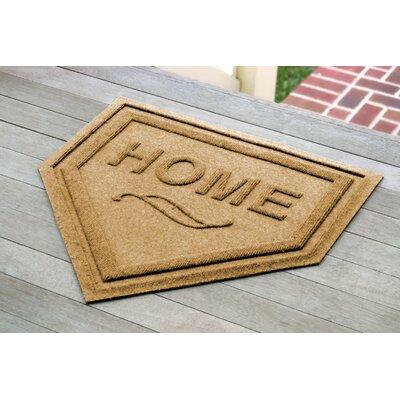 Aqua Shield Home Plate Doormat Color: Gold
